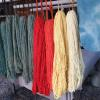 Natural dyes on display at Tierra Wools